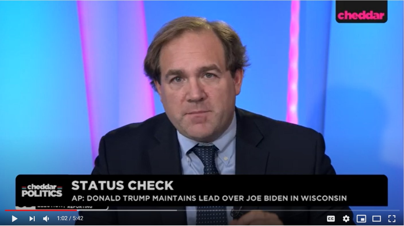 Election Night 2020: Bradley Honan on Cheddar TV to talk Florida and Ohio